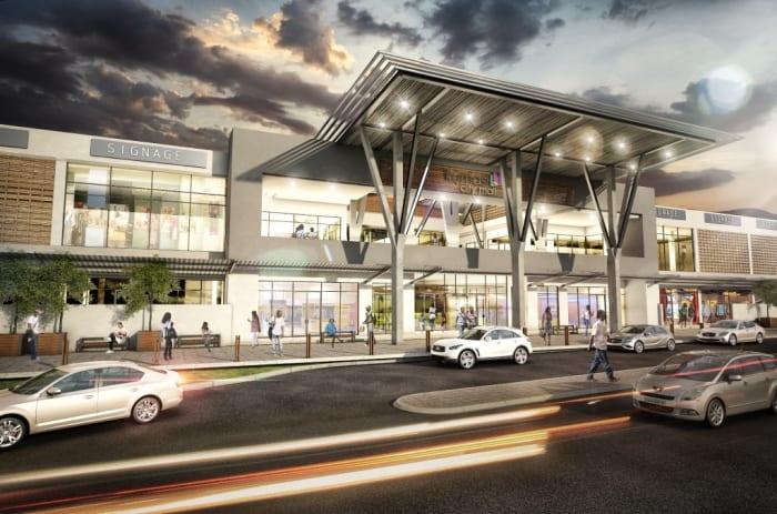 A artist's rendering of Kumasi City Mall.