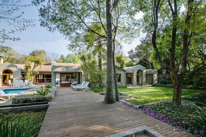 On the market for the very first time through Pam Golding Properties for R12,5 million, this immaculate, contemporary home is situated in a prime position in a secluded gated enclave in Atholl.