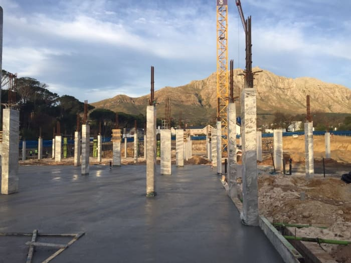 The construction site of the Mediclinic hospital in Stellenbosch.