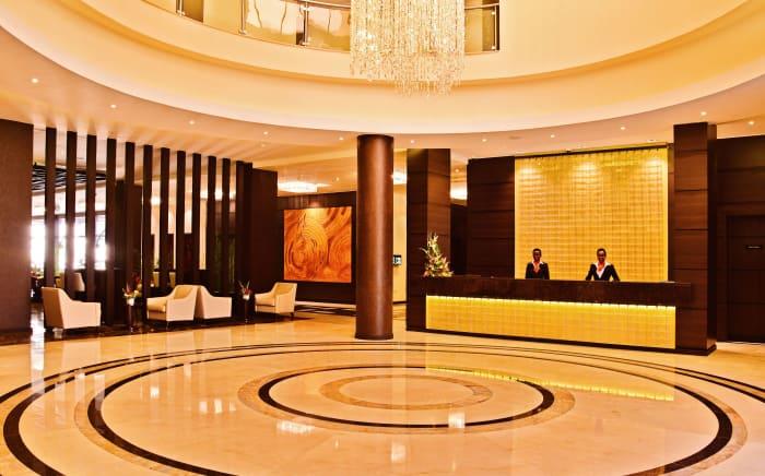 DoubleTree by Hilton Nairobi Hurlingham's reception.