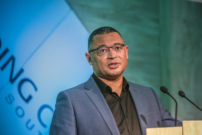 Professor Edgar Pieterse, the South African Research Chair in Urban Policy and founding director of the African Centre for Cities at the University of Cape Town, addressing the Green Building Convention 2017