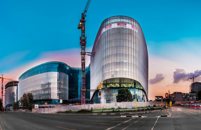 An exterior view of the new Discovery global headquarters in Sandton Central.