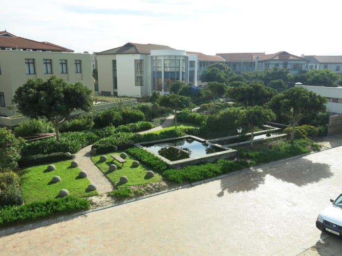 Ibis House at Century City, landscaped and planted with indigenous vegetation.