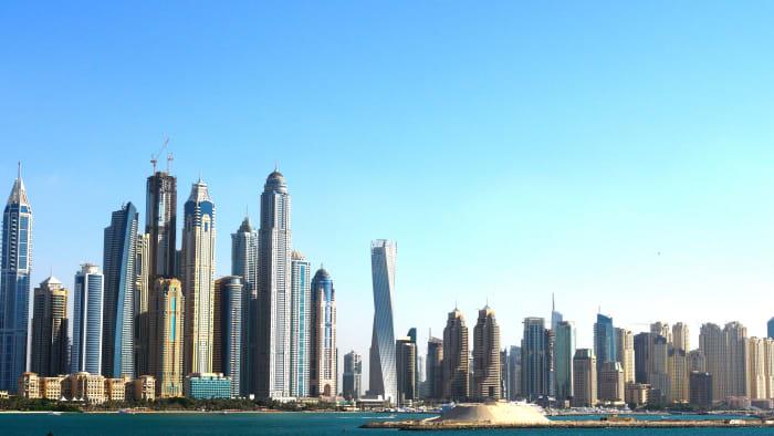 The Dubai Skyline.