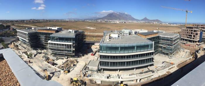 Construction underway on Rabie's Sable Park office development.
