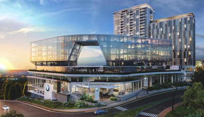 An artist's impression of the SMG BMW dealership at Umhlanga Arch.