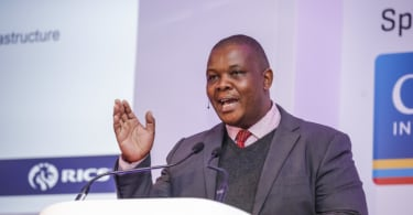 Jacob Mamabolo, Gauteng MEC for Infrastructure, speaking at the RICS Africa Summit, in Sandton, Johannesburg.