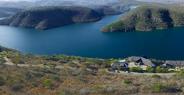 A beautiful view of the Jozini Dam, situated in Kwa-Zulu Natal.