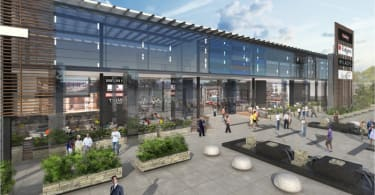 An artist's impression of the exterior of Westgate Shopping Centre.