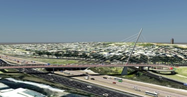 A artist's impression of the Grayston Bridge.