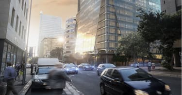 An artist's impression of the new office tower in Cape Town's Foreshore precinct for Abland and Ellerine Brothers.