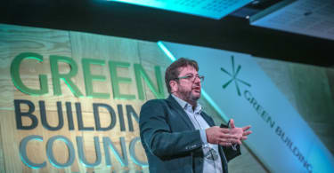 Workplace Strategies and Change Manager, Nigel Oseland, addressing delegates at the Green Building Convention 2017.