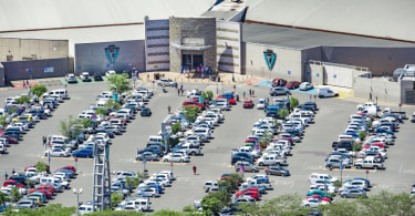 An aerial view of Midlands Mall.