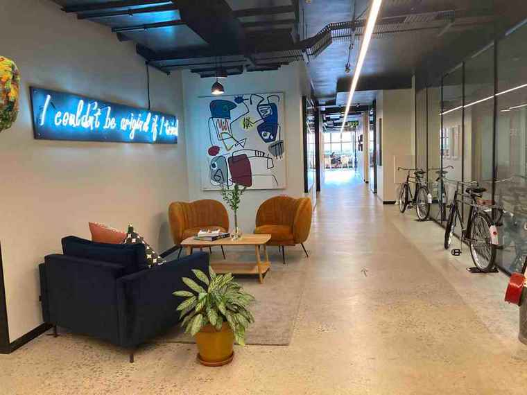 Roamwork co-working space in Cape Town CBD.
