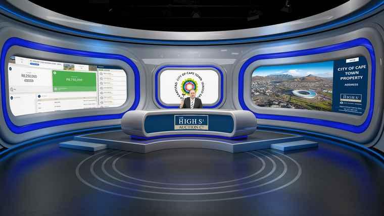 City of Cape Town High Street virtual auction studio with Joff van Reenen.