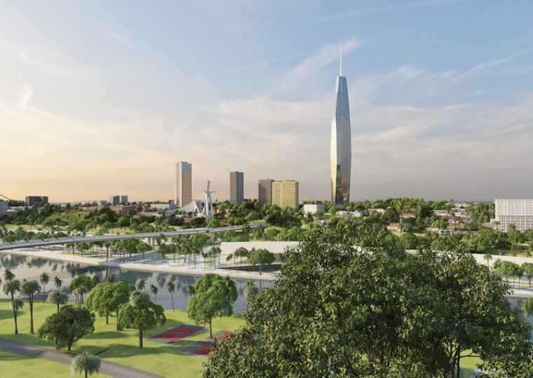 An artist's rendering of the F Tower (Image credit: BESIX).