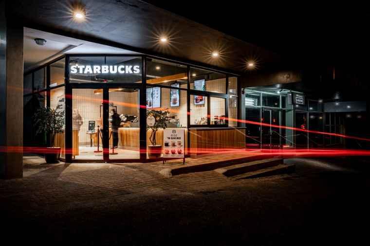 Starbucks Linden in First Place Shopping Mall , Gauteng.