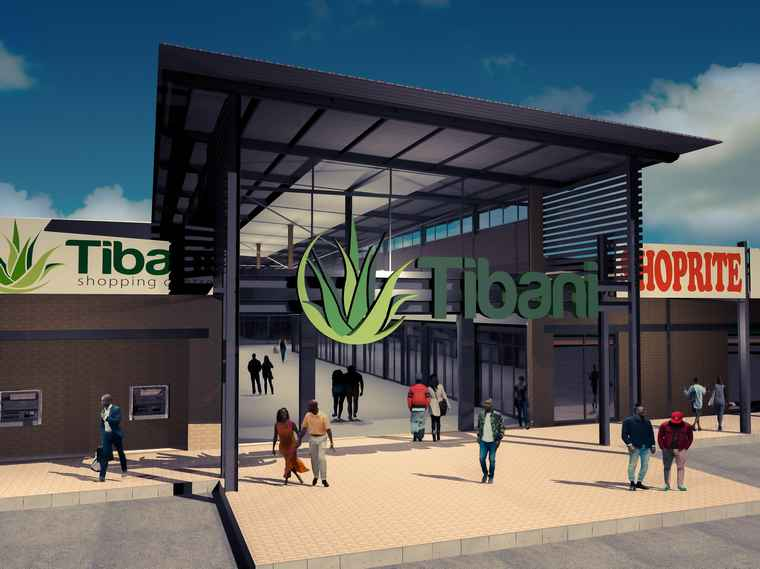 An artist's impression of Tibani Shopping Centre.