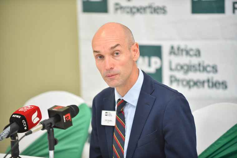 Toby Selman, CEO of Africa Logistics Properties during the launch of ALP's North Industrial Park.