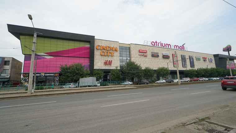 Atrium Mall shopping centre in Arad, Romania.