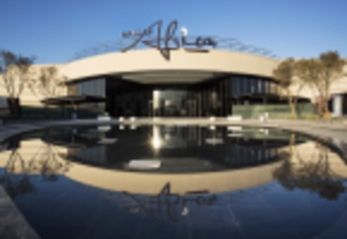 An exterior view of the iconic Mall of Africa.