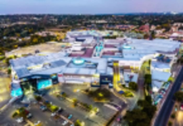 An aerial view of Cresta Shopping Centre.