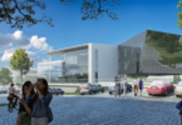An artist's impression of Accenture's offices in Waterfall City.