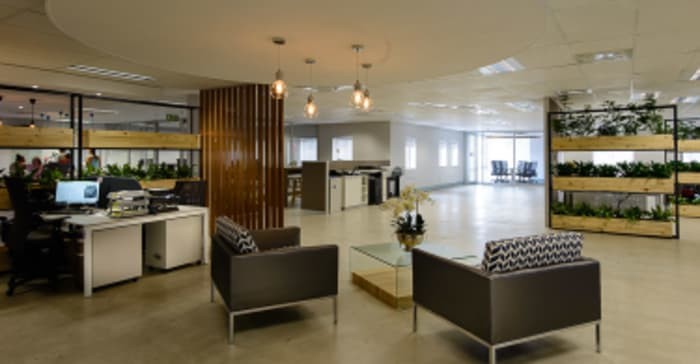 Synaq's office interiors in Sunninghill.