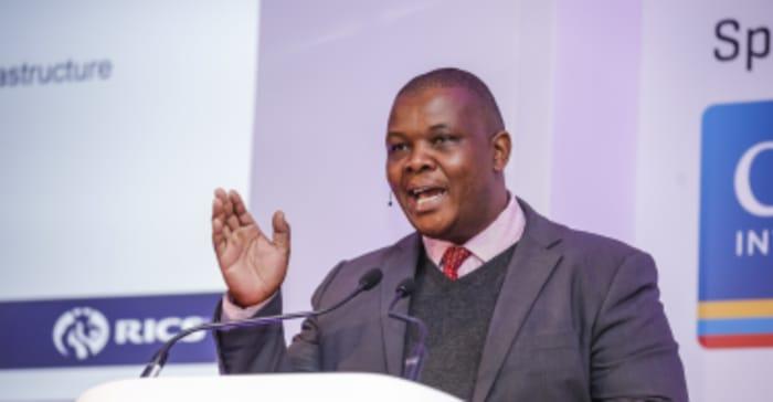 Jacob Mamabolo, Gauteng MEC for Infrastructure, speaking at the RICS Africa Summit, in Sandton, Johannesburg.