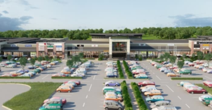 An arrtist's impression of Groblersdal Mall in Limpopo.