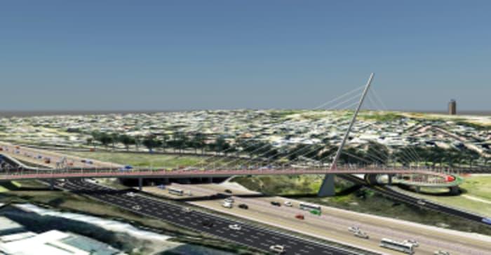 A artist's impression of the Grayston Bridge.