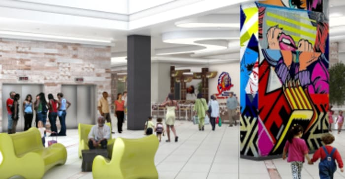 An artist's impression of Sandton City's new family fun level.
