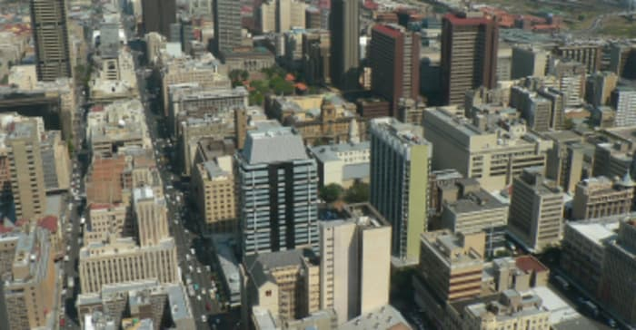 A panorama view of Johannesburg.