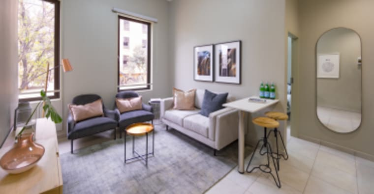 An interior look at The Bolton's apartments in Rosebank.