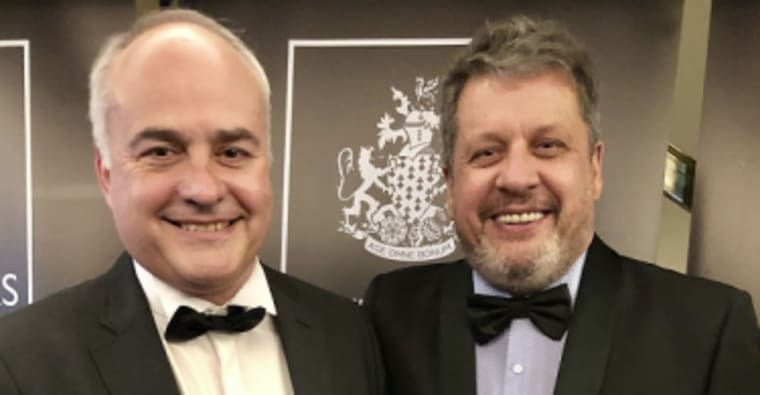 Willie Vos, CEO of Waterfall Management Company and Werner van Rhyn, a director at the Waterfall Investment Company.
