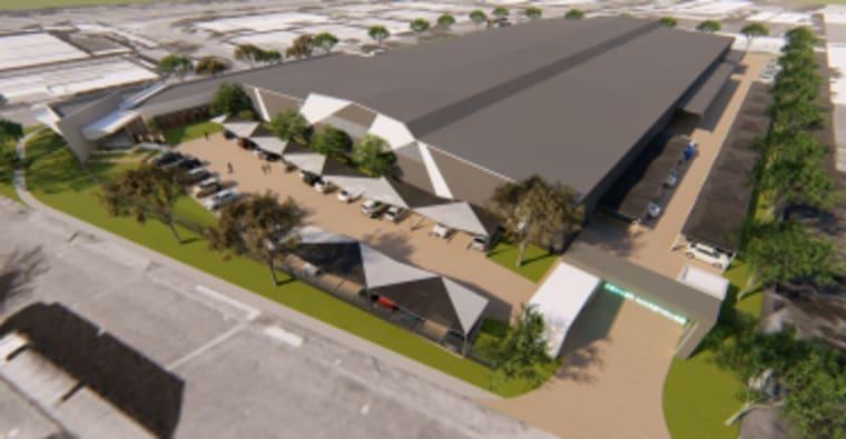 A aerial view of Emira's Denver warehouse.