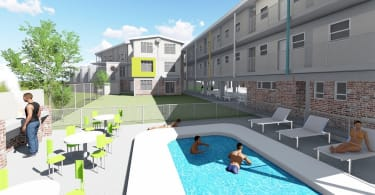 An artist's impression of the entertainment area of the new Bloemfontein residence.