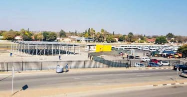 The first phase of the refurbishment being undertaken at the taxi rank of East Rand Mall shopping Centre