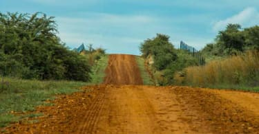 The road to Potchefstroom.