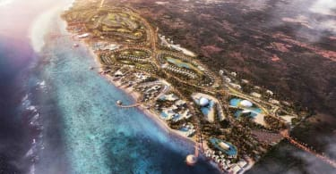 A masterplan of Blue Amber Zanzibar.