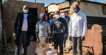 Human Settlements MEC, Mr Speed Mashilo together with The Collen Mashawana Foundation are crisi-crossing the entire Dr JS Moroka Local Municipality distributing food parcels to the needy households.