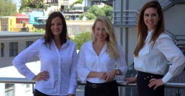 Renee Kruger, Nina Steininger and Janet Lightbody of Ikon Property Group