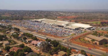 An aerial view of Thavhani Mall.