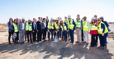 The Izandla Property and Sasol teams involved in the development.