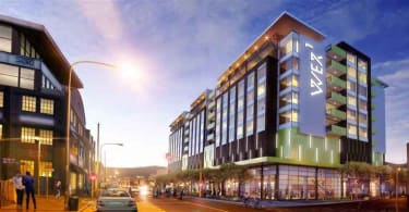 A artist's impression of the exterior of the Stock Exchange hotel in Woodstock.