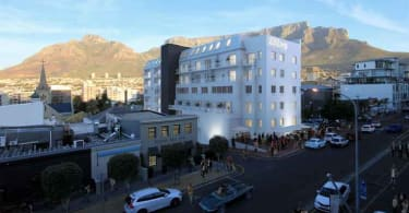 A exterior view of 220 Loop Street in Cape Town.