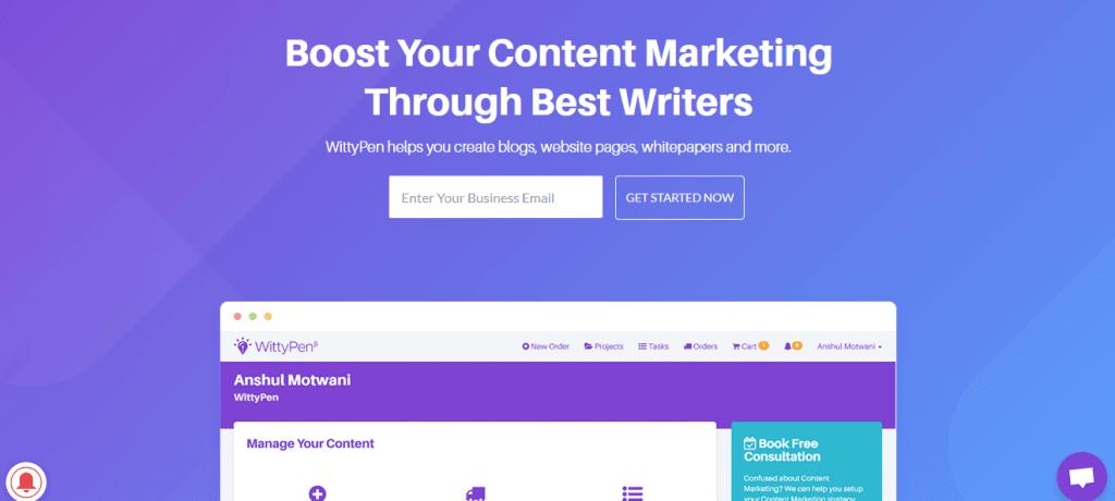 online content Writing platform