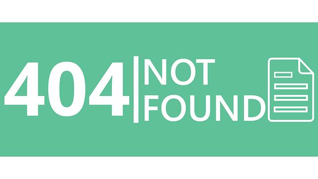 Error : 404 Not Found