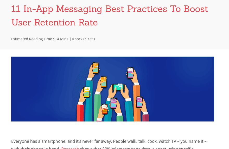11 in app push messages practices