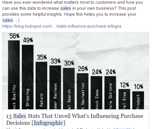 Purchase decisions sales stats